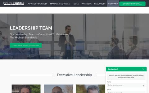 Screenshot of Team Page doublehorn.com - Leadership Team - Cloud Experts | DoubleHorn Cloud Solutions - captured Oct. 9, 2018