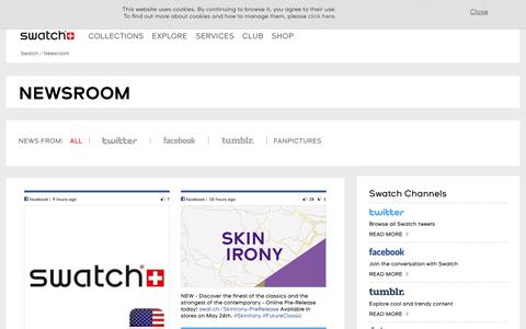 Screenshot of Press Page swatch.com - Newsroom - Swatch® United States - captured May 19, 2018