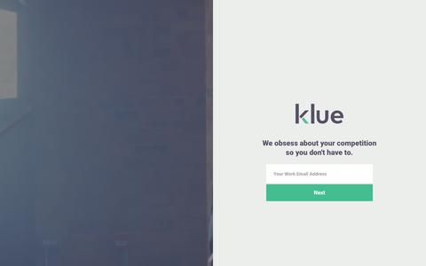 Klue – We obsess about your competition so you don't have to.
