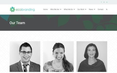 Screenshot of Team Page ecobrandit.com - Our Team | Eco Branding - captured Nov. 1, 2014