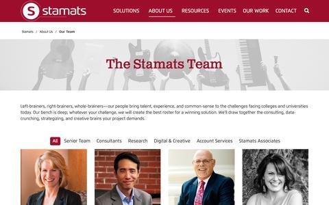 Screenshot of Team Page stamats.com - Our Team - Stamats, Inc. - captured Nov. 18, 2018