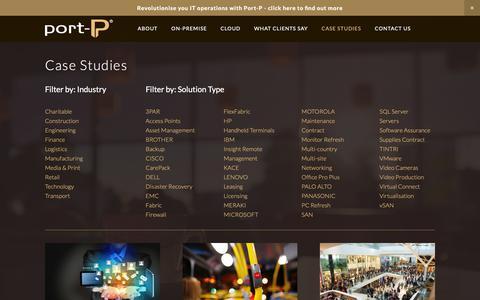 Screenshot of Case Studies Page port-p.com - Case Studies — PORT-P - captured Nov. 5, 2018