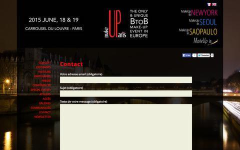 Screenshot of Contact Page makeup-in-paris.com - MakeUp in Paris - Contact - captured Sept. 30, 2014