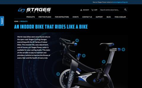Screenshot of Products Page stagesindoorcycling.com - Stages Indoor Cycling - Products - captured Feb. 16, 2016