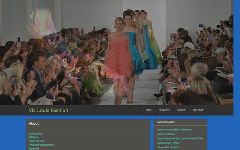 Screenshot of About Page viclouis.com - About | Vic Louis Fashion - captured Oct. 7, 2014