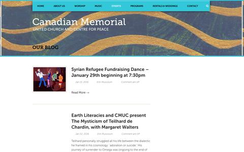 Screenshot of Blog canadianmemorial.org - Canadian Memorial  Our Blog - Canadian Memorial - captured Jan. 24, 2016