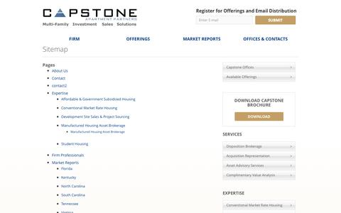 Screenshot of Site Map Page capstoneapts.com - Sitemap | Capstone Apartment Partners - captured Oct. 1, 2014