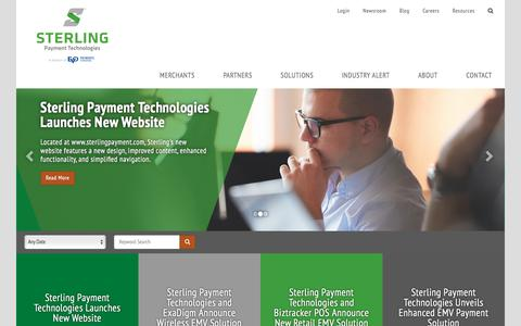 Screenshot of Press Page sterlingpayment.com - Newsroom | Sterling Payment Technologies - captured June 30, 2017