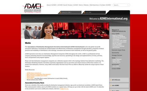 Screenshot of Press Page adme.org - Media | ADME - Association of Destination Management Executives - captured Feb. 6, 2016