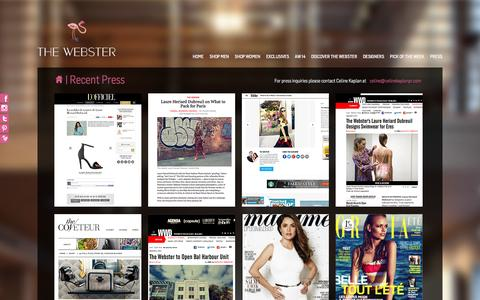 Screenshot of Press Page thewebstermiami.com - Press | The Webster Miami - captured Oct. 9, 2014