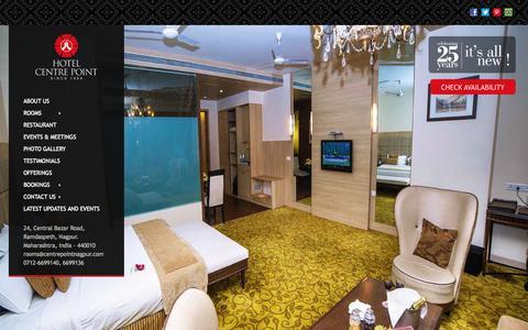 Screenshot of Home Page centrepointnagpur.com - Hotel Center Point | hotel in nagpur, centre point hotel - captured Oct. 2, 2014
