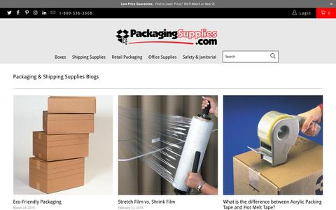 Screenshot of Blog packagingsupplies.com - Packaging & Shipping Supplies Blogs - PackagingSupplies.com - captured May 3, 2019