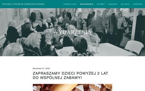 Screenshot of Home Page polskiecentrum.com - Polskie Centrum Chrześcijańskie - captured Nov. 30, 2018