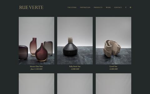 Screenshot of Products Page rueverte.dk - Rue Verte — Products - captured Oct. 26, 2017