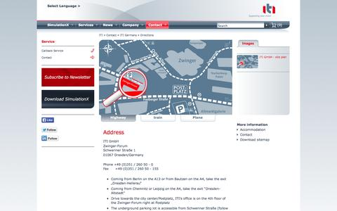Screenshot of Maps & Directions Page itisim.com - Directions - captured Oct. 3, 2014