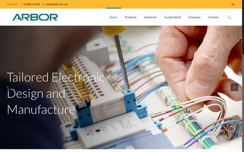 Screenshot of Home Page arbor-uk.com - ARBOR Technology UK - captured July 30, 2018