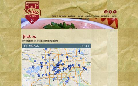 Screenshot of Maps & Directions Page philiafoods.com - Philia Foods | St. Paul, MN - find us - captured Dec. 9, 2015