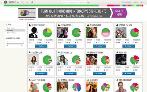 Screenshot of Team Page mystorey.com - People on myStorey - Together, We Commerce - captured Oct. 9, 2014