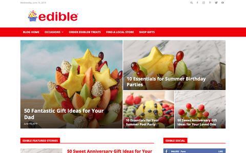 Screenshot of Blog ediblearrangements.com - Gifting & Food Blog: Gift Ideas, Dessert Recipes & More | Edible Blog - captured June 19, 2019