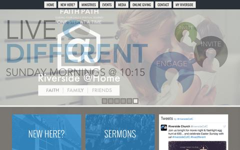 Screenshot of Home Page riverside-church.org - Riverside Church Of Christ | Coppell TX - captured April 14, 2017