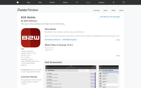 B2W Mobile on the App Store