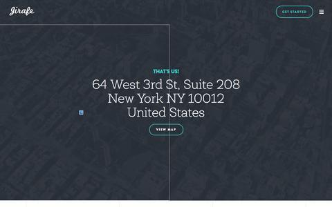 Screenshot of Contact Page jirafe.com - jirafe - captured Oct. 20, 2015