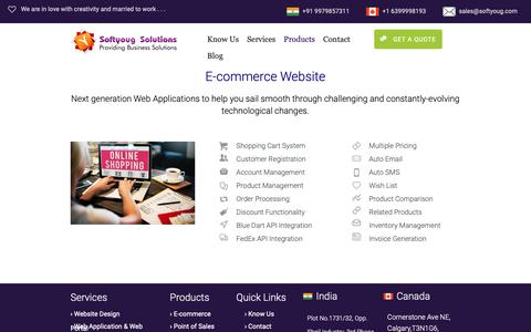 Screenshot of Products Page softyoug.com - E-commerce | Softyoug Solutions - captured Oct. 18, 2018