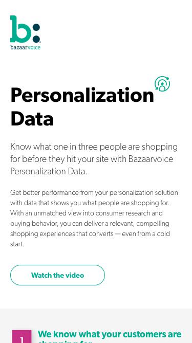 Personalization by Bazaarvoice