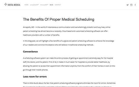 Screenshot of Blog digitalmedicalconsulting.com - BLOG — Digital Medical Consulting Group - captured Feb. 9, 2016