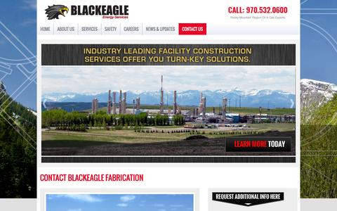 Screenshot of Contact Page blackeagleenergyservices.com - Black Eagle Energy Services : Contact Us - captured Jan. 6, 2016