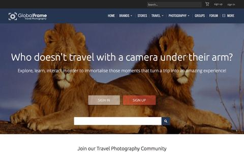 Screenshot of Login Page globalframe.net - Global Frame Travel Photography Community - Landing Page - captured Dec. 10, 2015