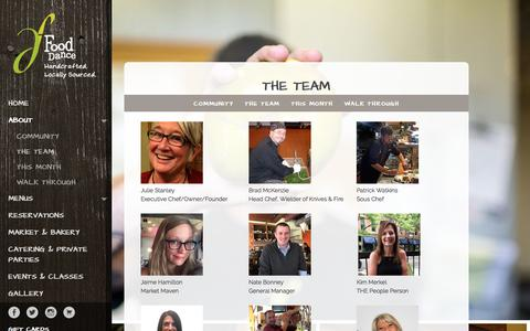 Screenshot of Team Page fooddance.net - The Team - Food Dance - captured June 6, 2017