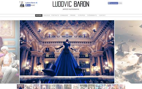 Screenshot of Home Page ludovicbaron.fr - Ludovic Baron - captured Jan. 26, 2015