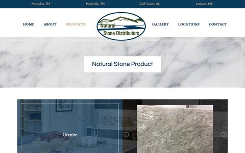 Screenshot of Products Page nstone.com - Distribution Centers | Cordova, TN | Natural Stone and Tile - captured Oct. 19, 2017