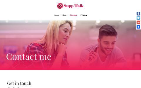 Screenshot of Contact Page supptalk.com - Contact - - captured Sept. 30, 2018