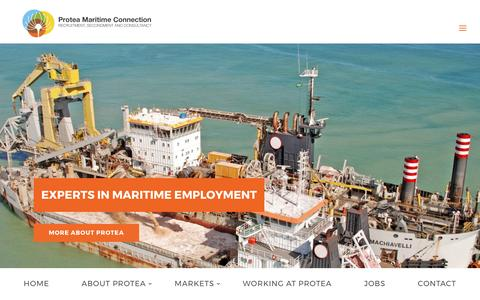 Screenshot of Home Page proteamaritimeconnection.com - Home - Protea Maritime Connection - captured May 23, 2017
