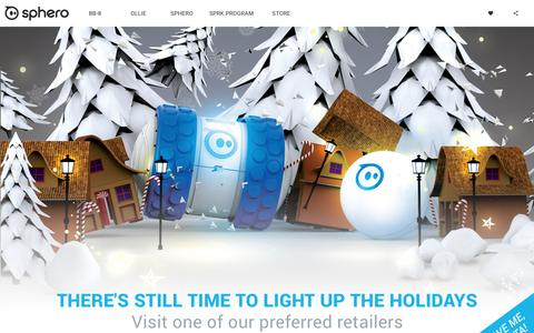 Screenshot of Home Page sphero.com - Sphero | Connected Toys - captured Dec. 24, 2015