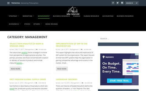 Screenshot of Team Page mba-tutorials.com - Management   MBA Tutorials - captured Nov. 5, 2018