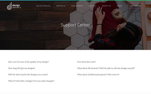 Screenshot of Contact Page Support Page designdelivery.co.uk - Design Delivery | order custom design online - captured Nov. 24, 2016