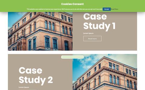 Screenshot of Case Studies Page jameselliottassociates.co.uk - Case Studies – James Elliott Associates - captured Dec. 20, 2018