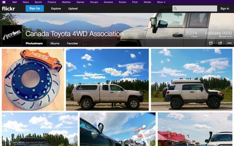Screenshot of Flickr Page flickr.com - Flickr: Canada Toyota 4WD Association's Photostream - captured Oct. 22, 2014