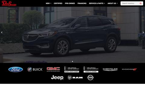 Screenshot of Home Page davesinclair.com - Portal - Dave Sinclair Cars For Sale in st louis MO - captured July 15, 2019