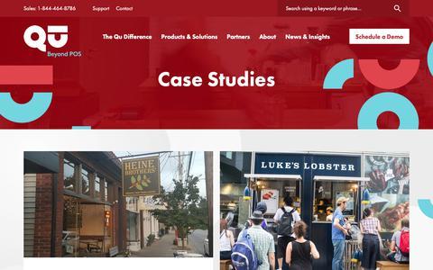 Screenshot of Case Studies Page qubeyond.com - Restaurant POS Case Studies - Qu - captured Sept. 30, 2018