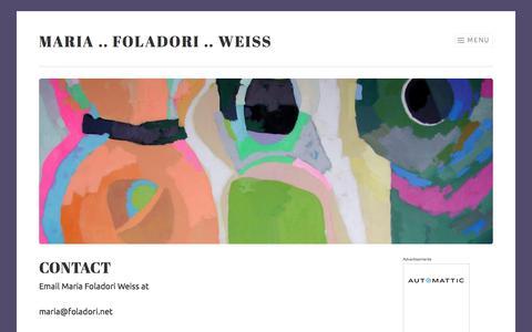 Screenshot of Contact Page wordpress.com - Contact – Maria .. Foladori .. Weiss - captured Feb. 12, 2018