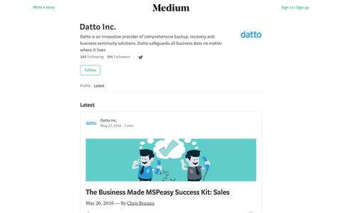 Latest stories written by Datto Inc. – Medium