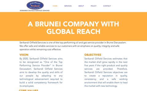 Screenshot of About Page serikandi.com - Serikandi Oilfield Services Brunei Darussalam - captured Oct. 1, 2018