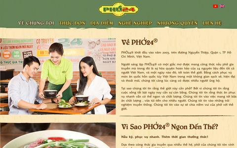 Screenshot of About Page pho24.com.vn - Về Chúng Tôi - Phở 24 - captured March 11, 2019