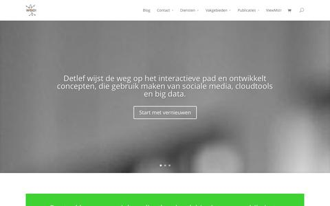 Screenshot of Home Page woid.nl - WOID, online business development van producten en diensten - captured Oct. 6, 2014