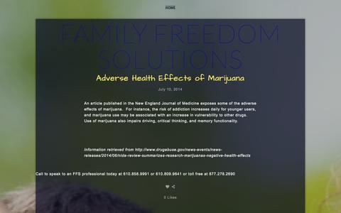 Screenshot of Blog ffsrecovery.com - Blog — Family Freedom Solutions - captured Oct. 5, 2014