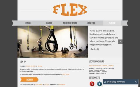 Screenshot of Signup Page flexcircuitgym.com - Sign Up | FLEX Circuit Gym - captured Oct. 10, 2018